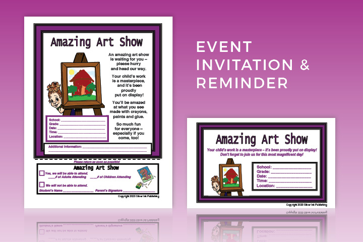 Amazing Art Show: Event Invitation and Reminder